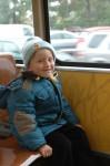Bernie lächelt stolz -Spontanfahrt mit der Straßenbahn !