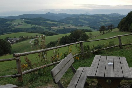 Ausblick bei der Ochsenburger Hütte