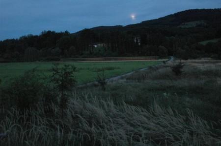 Mond über der Rudolfshöhe (es wurde etwas diesig = nebelig)