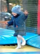 Riesen-Trampolin-Hüpfen