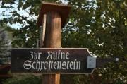 Abzweigung zur Ruine Schrattenstein