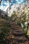 Nochmals der Zugangsweg zur Ruine hinauf