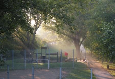 Durch diesen Park bin ich spontan abgebogen