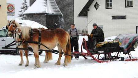 Der Pferdeschlitten beim Schaglhof am Joachimsberg