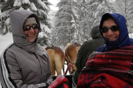 Schlittenfahrt mit Erika und Josef