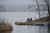 Zwei einsame Fischer.