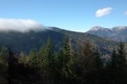 Von Süden zogen immer wieder Nebel herauf, rechts im Hintergrund die Heukuppe (glaube ich)