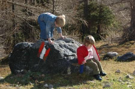 Auch Lokie wollte Fels-Kontakt