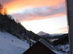 Am Samstag nachmittag, schöner Blick zum Ötscher mit noch schönerer Wolkenfärbung