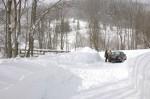 Die Schneemassen beim Ausgangspunkt