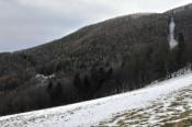Blick zur Liasenböndlhütte (links unten) und zum Kirchschlag