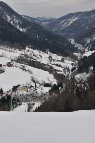 Blick von Annaberg nach Norden ins Tal hinunter