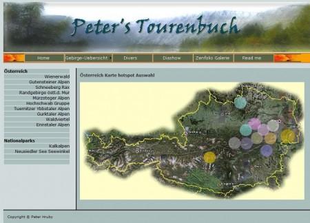 Über die Landkarte kannst du die Österreich-Touren aufrufen