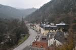 Blick ins Tal Richtung Hinterbrühl zurück, die Ruine Mödling