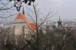 Die Mödlinger Kirche und den Karner sahen wir von hinten