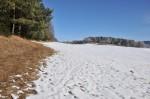 An Sonnenstellen war der Schnee weggeapert