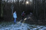 Dann ging´s durch dunklen Wald