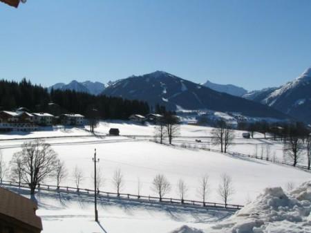 Blick zum Schigebiet Hochwurzen (Schladming/Rohrmoos)