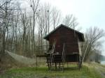 Eine Fischerhütte