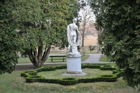 Eine Hermes-Statue