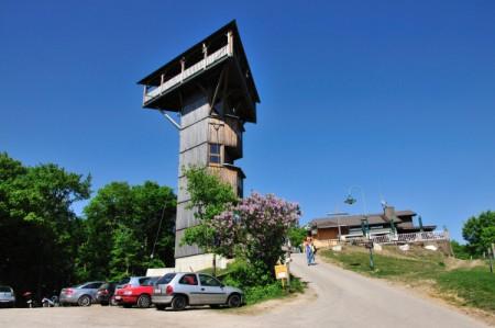 Aussichtsturm und Gasthaus am Buchberg