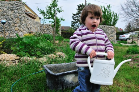schwere Gartenarbeit