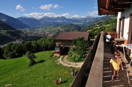 Der Blick auf Brixen nach der Ankunft
