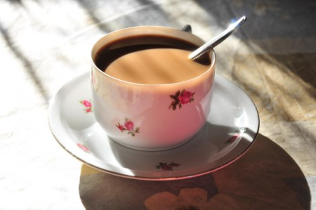 Mein Frühstückskaffee am ersten Morgen