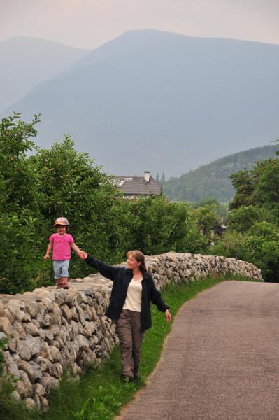 Am Montag unternahmen wir eine Wanderung in den Weinbergen bei Neustift (nördlich von Brixen)