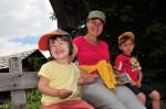 Am Dienstag fuhren wir auf die Lüser-Alm und wanderten recht flach zur Roner Hütte