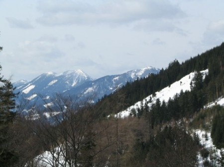 Blick nach Westen zu Gippel und Schwarzauer Gippel
