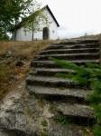 """Die """"Blockstiege"""" bei der Lourdes-Kapelle"""