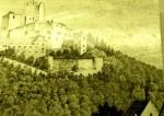 Burg Landstein von der Kirche in Markel