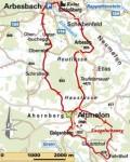 Wanderkarte Arbesbach - Altmelon