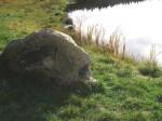 """Granitskulptur """"Steinkarpfen"""""""