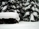 Schneeschichten im Brillergraben