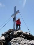 Beim Gipfelkreuz auf der Baumbachspitze