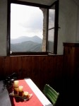 Gästezimmer im Torbau mit Kieneckblick