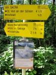 Kreuzung von Wiener Wallfahrerweg und Via Sacra-Pilgerweg bei der Araburg