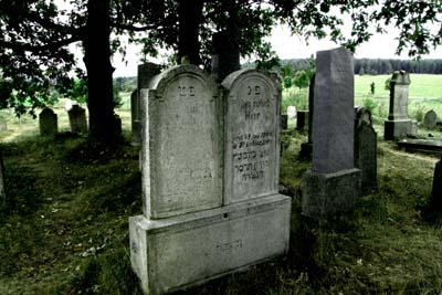Grabsteine im Jüdischen Friedhof Altstadt