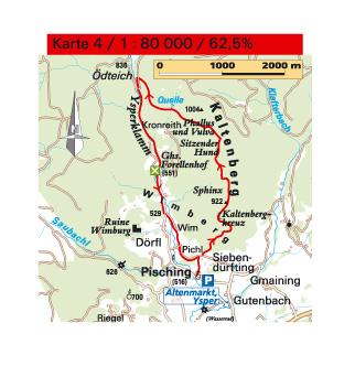 Karte Kaltenberg & Ysperklamm