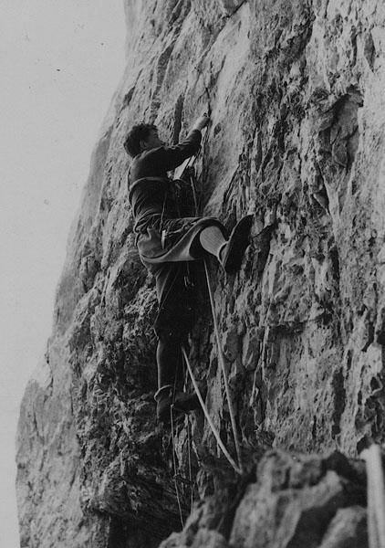 Werner am 8 m -Wandl unter dem Heinriss in der Rosskuppenkante