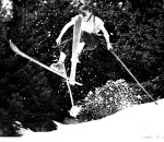 """Mein Vater """"Pergerl"""" beim Geländesprung um 1935"""