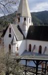 Murau Pfarrkirche vom Schlossaufgang
