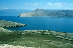 Bei Sveti Nikola gegen Insel Prvic und Velebit