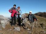 """Gipfelteam mit """"wamperten"""" BB (statt Spaghetti zu sagen, wohl zu viel davon genossen)"""