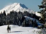 AB Schneefahnen über dem Ötscher