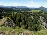 BB Blick von der Breimauer über Feldwies gegen Dürrenstein, Scheiblingstein und Kleinen Ötscher