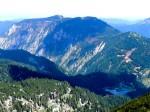 Obersee mit begonnener neuer Forststraße zum Scheiblingstein, dort abgestorbene Waldflächen