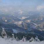 Blick ins Hallbachtal und zum Hochstaff